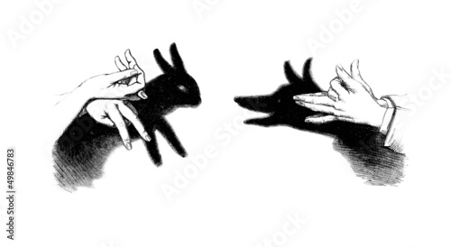Hand Games : Rabbit & Wolf