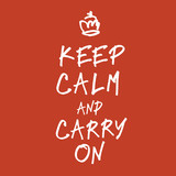 The words keep calm and carry on handwriting. Vector, EPS10 poster