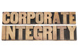 corporate integrity in wood type