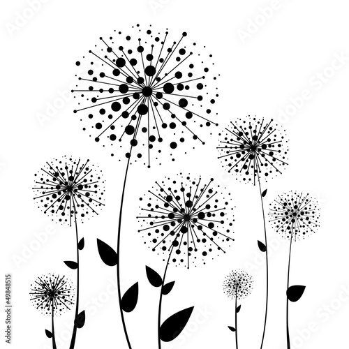 Abstract flower vector dandelion - 49848515