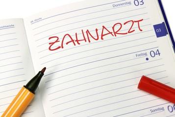 Notizbuch Zahnarzt Kalender