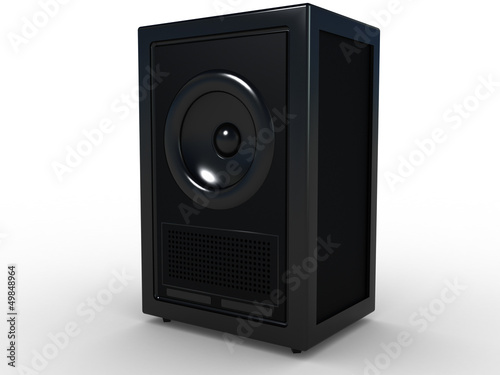 Music speaker on a white background №3