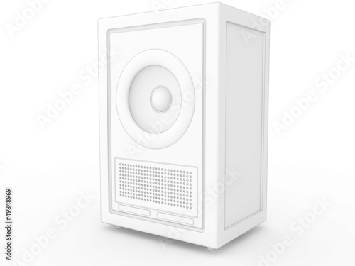 Drawing music speakers on a white background №3