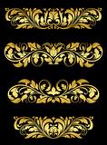 Golden floral embellishments poster