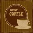 Best coffee vintage poster