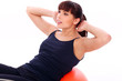Beautiful exercising with fitball