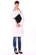 Beautiful woman in doctor's uniform