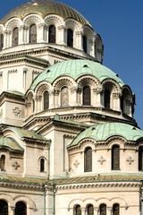 Vertical general view of the Alexander Nevski Cathedral Sofia Bu