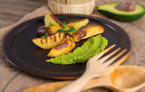 avocado-cream - selective focus