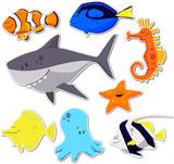 Fototapety poissons exotiques
