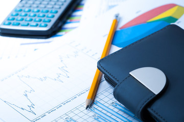 finance Statistical graphs and notebook