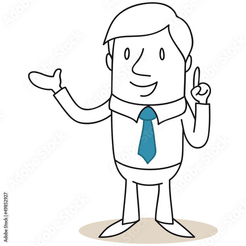 Geschäftsmann, Ratgeber, zeigen, erklären