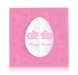 Pink paper Easter egg