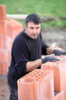 A hard-working bricklayer