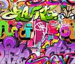 Fototapete Vektor - Wand - Graffiti