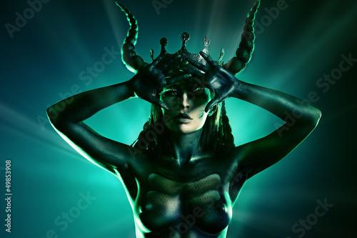 Fototapeten,monster,horn,mädchen,dämonisch