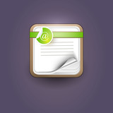User interface notepad icon