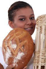 Portrait of a female baker