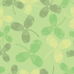 Vector seamless pattern with green leaves