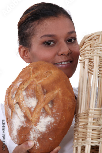 Portrait of a female baker