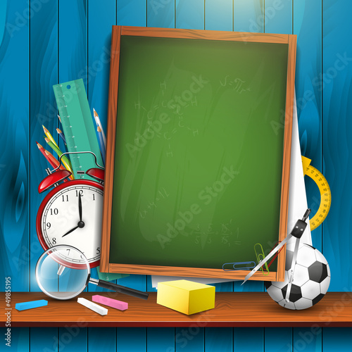 Back to school - vector background with copyspace