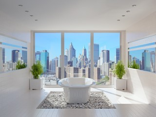 Modern Bathroom with Fantastic View