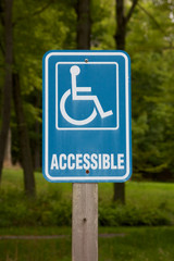 Accessible Disabled Parking Sign