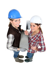Female bricklayers