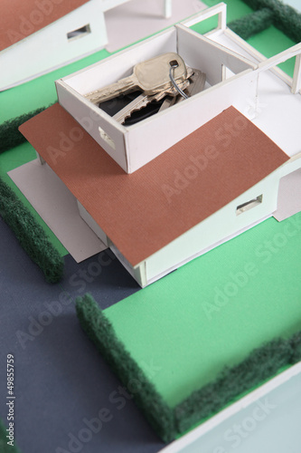 House keys on model housing project