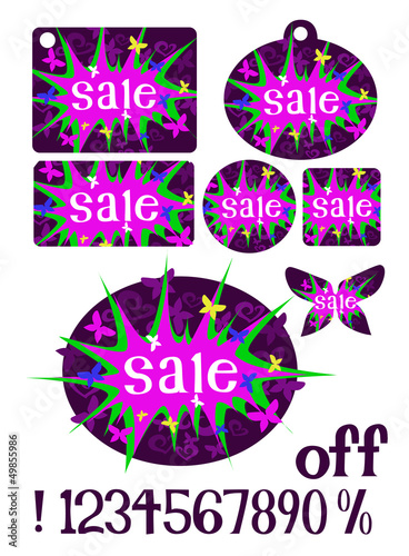 Girly Sale Tags
