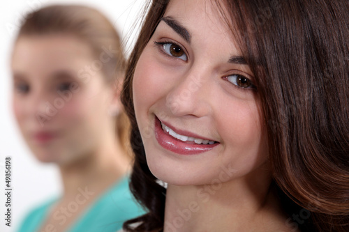 teenage girl smiling
