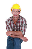 Casual male builder