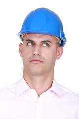 A suspicious-looking engineer