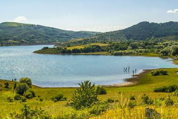 Campotosto Lake, in Abruzzi (Italy)