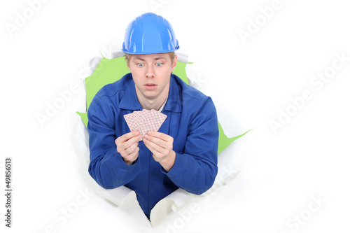 Builder amazed by the card he's been dealt