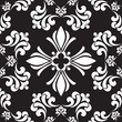 Seamless wallpaper pattern black background