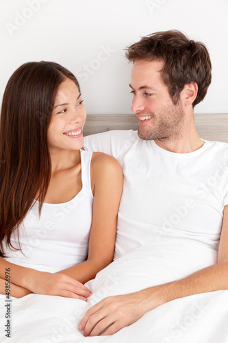 Loving young couple in love