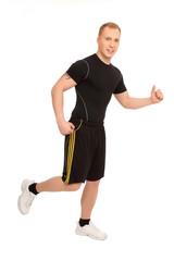 Laufender Sportler