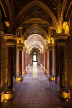 Fairytale corridor du palais Monserrate à Sintra ville, Portugal