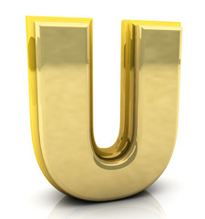3d rendering of the letter  u