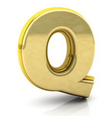 3d rendering of the letter q