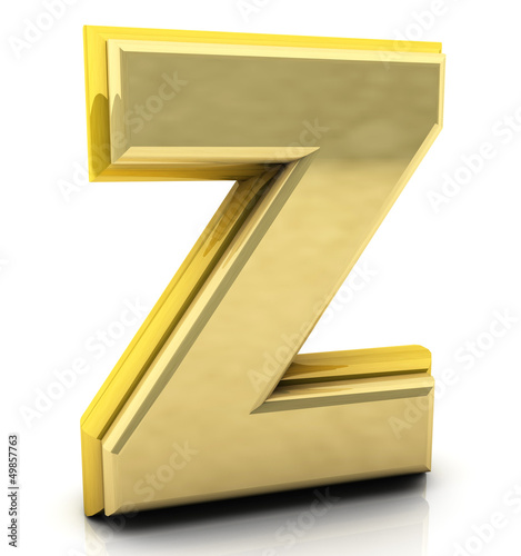 3d rendering of the letter z