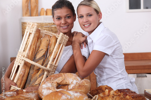 Two bakery workers