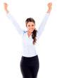 Happy businesswoman celebrating