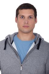 Man wearing hooded top
