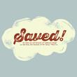 Vintage Christian design, Saved!