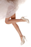 Bridal legs isolated on white