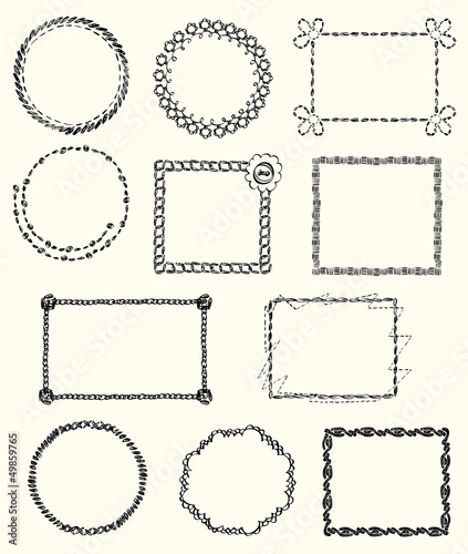set of knitted Frames and Design Elements.