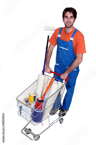 Man in a DIY store