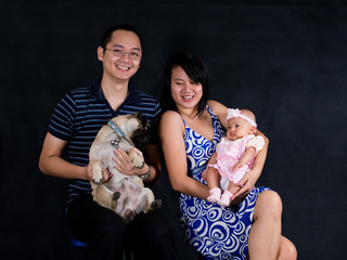 Family Picture with dog